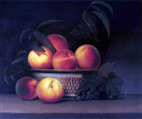 Raphaelle Peale Peaches and Unripe Grapes - Hand Painted Oil Painting
