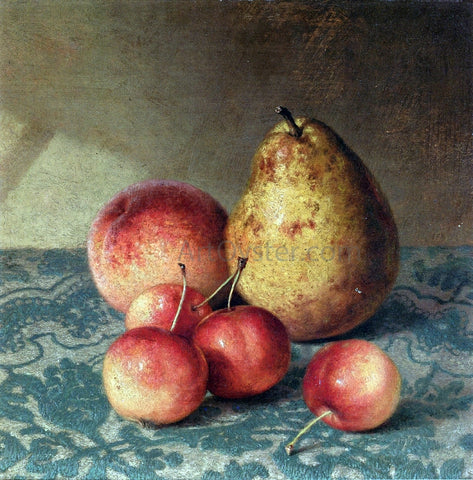 Robert Spear Dunning Pear, Peach and Cherries - Hand Painted Oil Painting