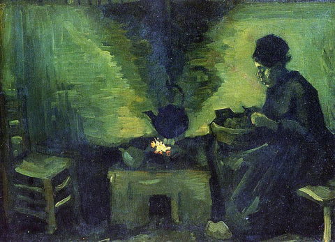 Vincent Van Gogh Peasant Woman by the Fireplace - Hand Painted Oil Painting