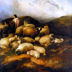 Thomas Sidney Cooper Peasants and Sheep - Hand Painted Oil Painting