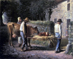 Jean-Francois Millet Peasants Bringing Home a Calf Born in the Fields - Hand Painted Oil Painting