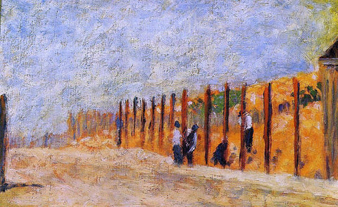 Georges Seurat Peasants Driving Stakes - Hand Painted Oil Painting
