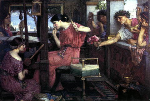 John William Waterhouse Penelope and the Suitors - Hand Painted Oil Painting