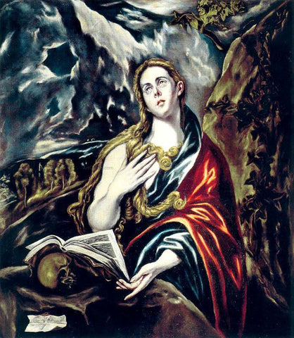 El Greco Penitent Magdalen - Hand Painted Oil Painting