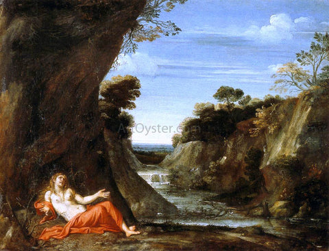 Giovan Battista Viola Penitent Magdalen in a Landscape - Hand Painted Oil Painting
