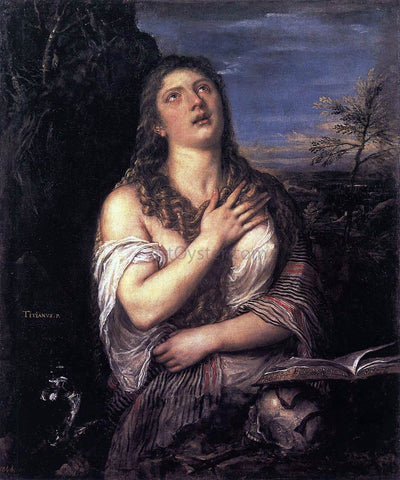 Titian Penitent St Mary Magdalene - Hand Painted Oil Painting