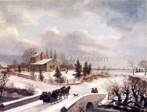 Thomas Birch A Pennsylvania Winter Scene - Hand Painted Oil Painting