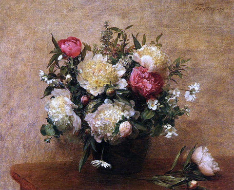Henri Fantin-Latour Peonies - Hand Painted Oil Painting