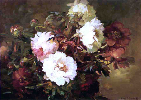 Franz Bischoff Peonies - Hand Painted Oil Painting
