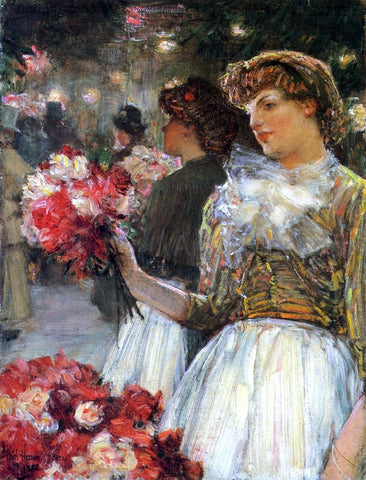 Frederick Childe Hassam Peonies - Hand Painted Oil Painting