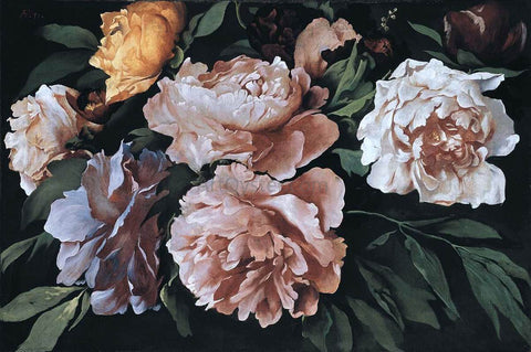 Anselm Friedrich Feuerbach Peonies - Hand Painted Oil Painting