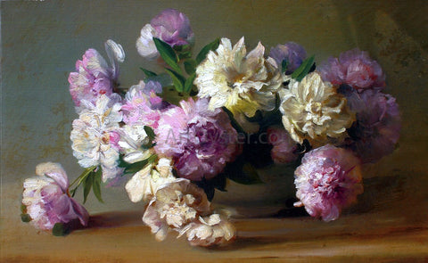 Charles Ethan Porter Peonies in a Bowl - Hand Painted Oil Painting