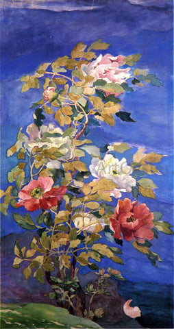 John La Farge Peonies in a Breeze - Hand Painted Oil Painting