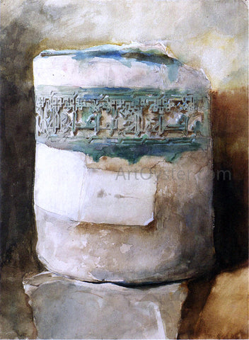 John Singer Sargent Persian Artifact with Faience Decoration - Hand Painted Oil Painting