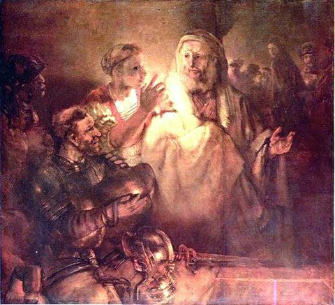 Rembrandt Van Rijn Peter Denouncing Christ - Hand Painted Oil Painting