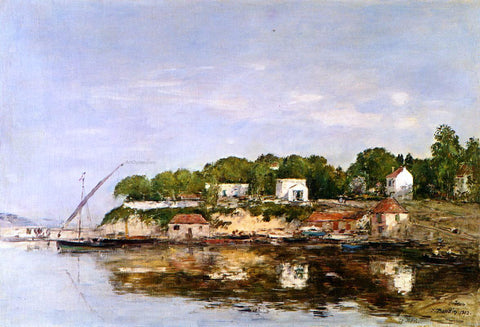 Eugene-Louis Boudin Petit Port de Saint-Jean near Villefranche - Hand Painted Oil Painting