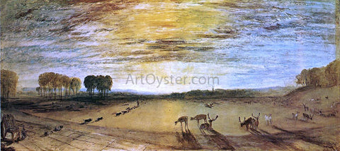 Joseph William Turner Petworth Park: Tillington Church in the Distance - Hand Painted Oil Painting