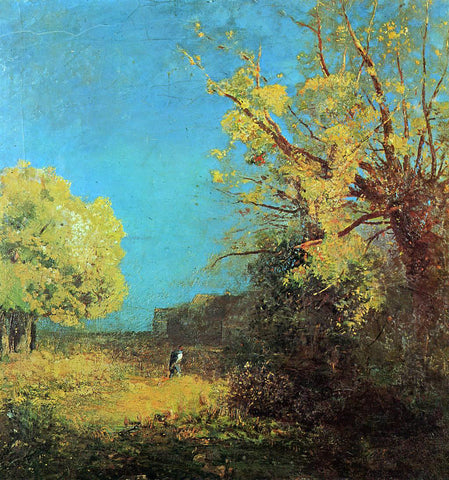 Odilon Redon Peyrelebade Landscape - Hand Painted Oil Painting