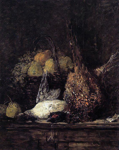 Eugene-Louis Boudin Pheasant, Duck and Fruit - Hand Painted Oil Painting