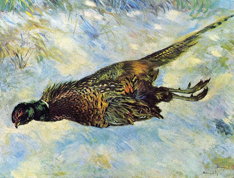 Pierre Auguste Renoir Pheasant in the Snow - Hand Painted Oil Painting
