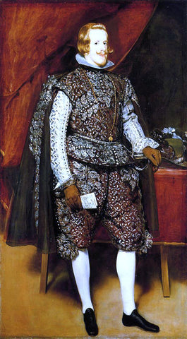 Diego Velazquez Philip IV in Brown and Silver - Hand Painted Oil Painting