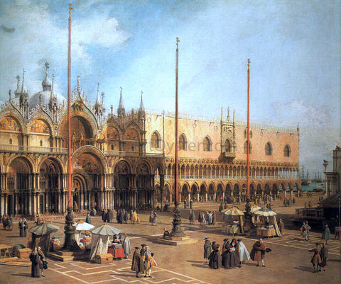 Canaletto Piazza San Marco - Looking Southeast - Hand Painted Oil Painting