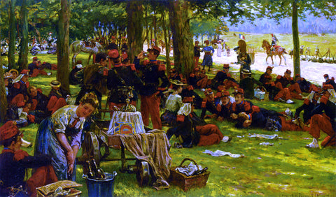 Jan Hoynck Van Papendrecht Picnic after the Parade - Hand Painted Oil Painting