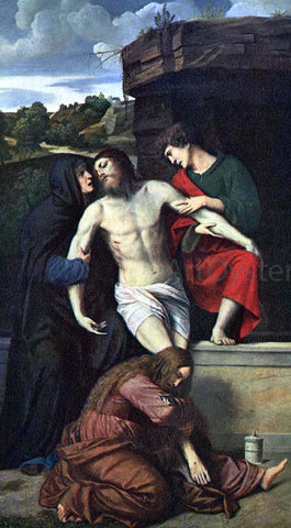 Moretto Da Brescia Pieta - Hand Painted Oil Painting