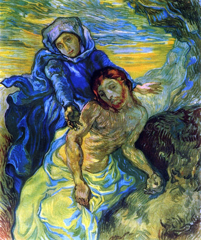 Vincent Van Gogh Pieta (after Delacroix) - Hand Painted Oil Painting