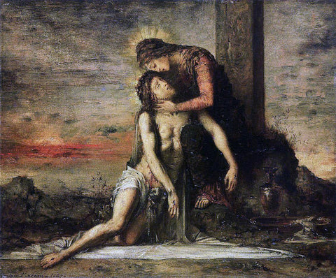 Gustave Moreau Pieta - Hand Painted Oil Painting