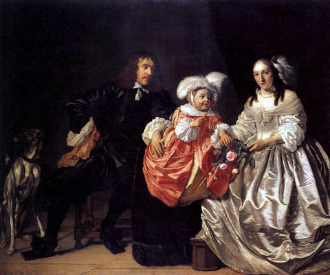 Bartholomeus Van der Helst Pieter Lucaszn van de Venne with Anna de Carpentier and Child - Hand Painted Oil Painting