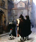 Jean-Leon Gerome Pifferari in London - Hand Painted Oil Painting