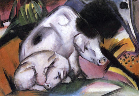 Franz Marc Pigs - Hand Painted Oil Painting