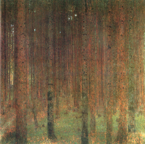 Gustav Klimt Pine Forest II - Hand Painted Oil Painting