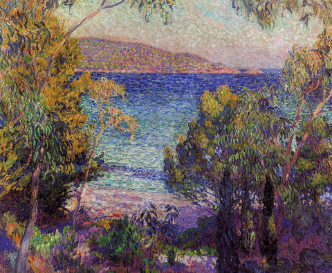 Theo Van Rysselberghe Pines and Eucalyptus at Cavelieri - Hand Painted Oil Painting