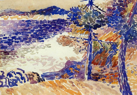 Henri Edmond Cross Pines by the Sea - Hand Painted Oil Painting