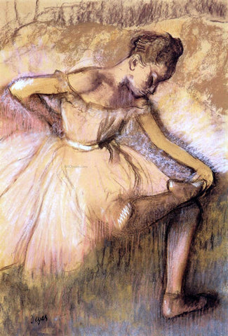 Edgar Degas Pink Dancer - Hand Painted Oil Painting