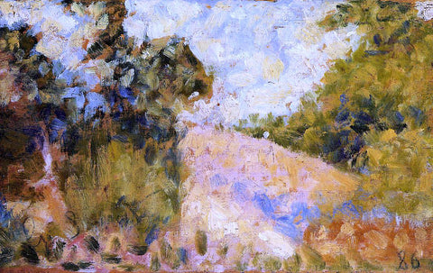 Georges Seurat Pink Landscape - Hand Painted Oil Painting