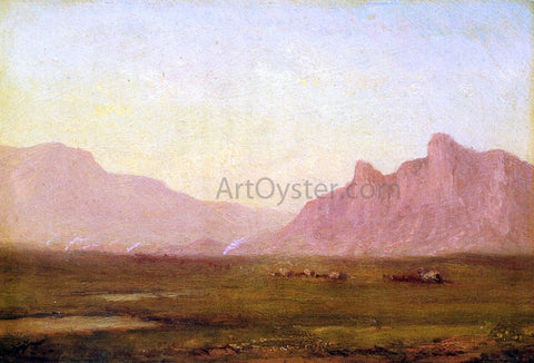 John Williamson Pink Mountains - Hand Painted Oil Painting