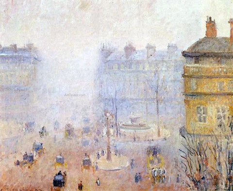 Camille Pissarro Place du Theatre Francais: Foggy Weather - Hand Painted Oil Painting
