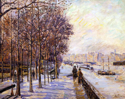 Armand Guillaumin Place Valhubert - Hand Painted Oil Painting