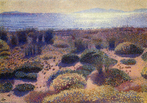 Henri Edmond Cross Plage de la Vignassa - Hand Painted Oil Painting
