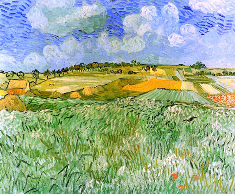 Vincent Van Gogh Plain near Auvers - Hand Painted Oil Painting