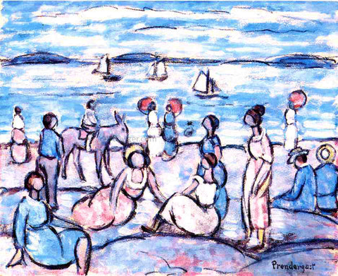 Maurice Prendergast Playing at Salem, Massachusetts - Hand Painted Oil Painting