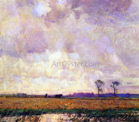 William Langson Lathrop Plowing along the Canal - Hand Painted Oil Painting