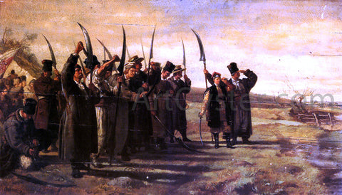 Stanislaus Von Chlebowski Polish Insurrectionists of the 1863 Rebellion - Hand Painted Oil Painting