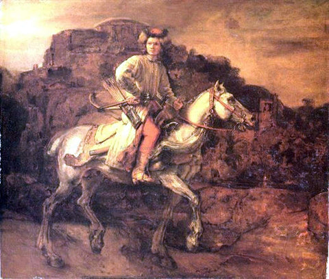 Rembrandt Van Rijn Polish Rider - Hand Painted Oil Painting