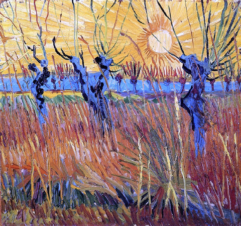 Vincent Van Gogh Pollard Willow with Setting Sun - Hand Painted Oil Painting