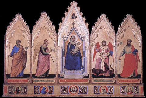 Giotto Di Bondone Polyptych - Hand Painted Oil Painting