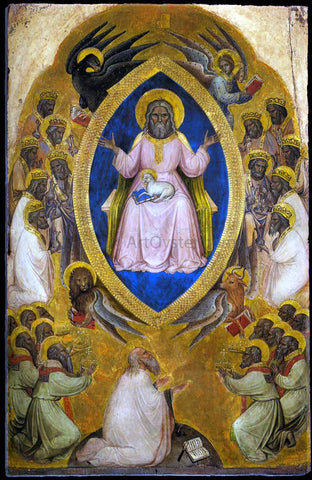 Jacobello Alberegno Polyptych of the Apocalypse (central panel) - Hand Painted Oil Painting